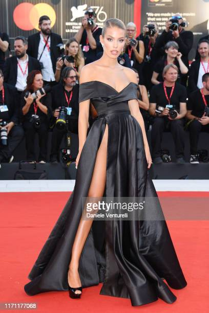 Jessica Goicoechea walks the red carpet ahead of the J'Accuse screening during the 76th Venice Film Festival at Sala Grande on August 30 2019 in...