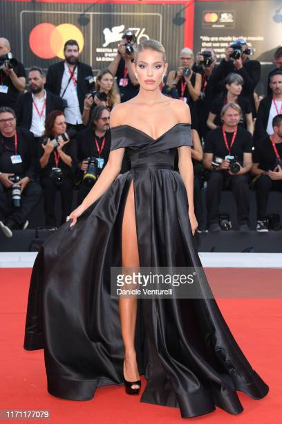 "Jessica Goicoechea walks the red carpet ahead of the ""J'Accuse"" screening during the 76th Venice Film Festival at Sala Grande on August 30, 2019 in..."