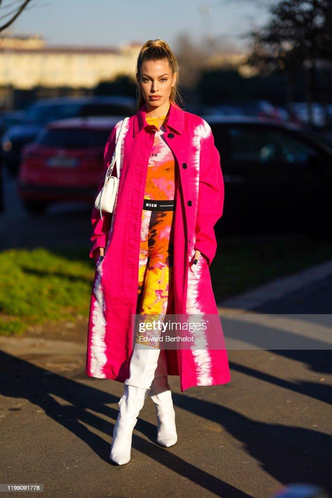 Street Style: January 12th - Milan Fashion Week Fall/Winter 2020/2021 : News Photo
