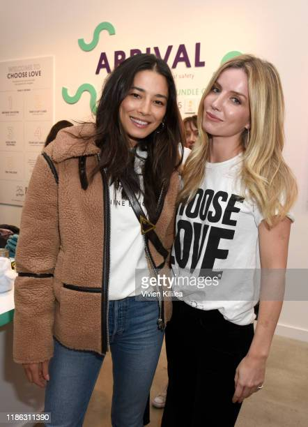 Jessica Gomes and Annabelle Wallis attend Choose Love Launches In Los Angeles On Giving Tuesday on December 3 2019 in Los Angeles California