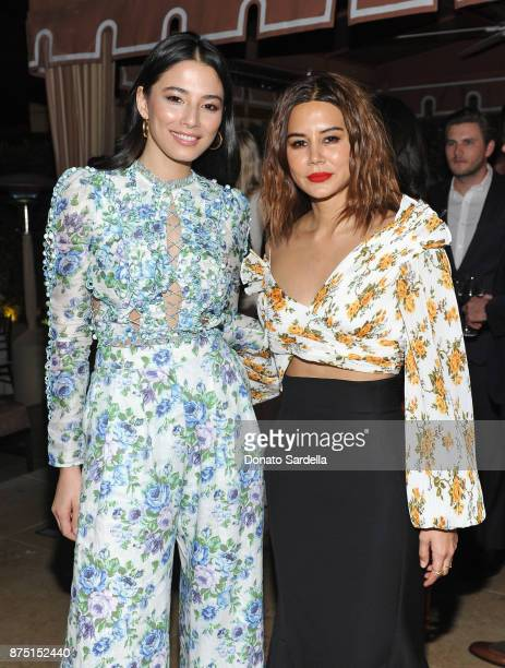 Jessica Gomes and Christine Centenera at Zimmermann Los Angeles Dinner at Sunset Tower on November 16 2017 in West Hollywood California