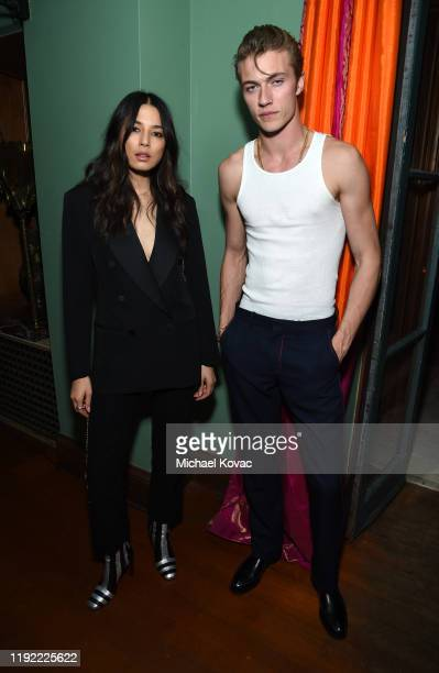 Jessica Gomes and Lucky Blue Smith attend the Christian Louboutin Laura Brown Celebrate The Debut Of The 'ELISA' at The Paramour Estate on December...