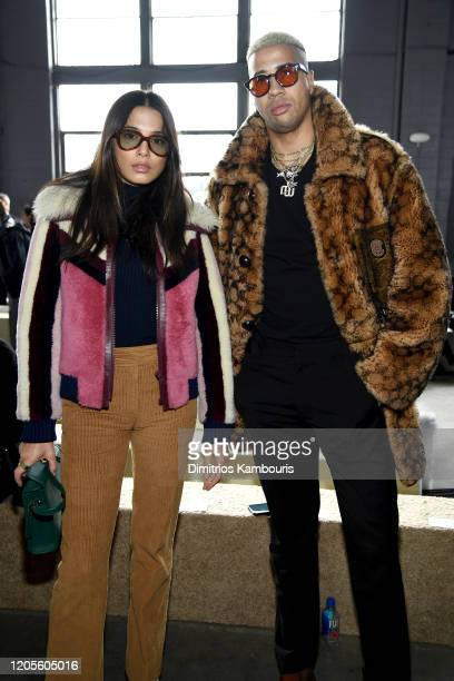 Jessica Gomes and Miles ChamleyWatson attend the Coach 1941 fashion show during February 2020 New York Fashion Week on February 11 2020 in New York...