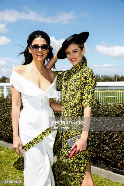 Jessica Gomes and Victoria Lee at Caulfield Racecourse on October 19 2019 in Melbourne Australia