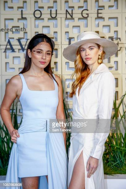 Jessica Gomes and Victoria Lee attends 2018 Caulfield Cup Day at Caulfield Racecourse on October 20 2018 in Melbourne Australia
