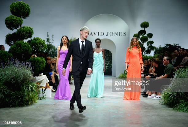 Jessica Gomes Anwar Hadid Adut Akech and Victoria Lee showcase designs during the David Jones Spring Summer 18 Collections Launch at Fox Studios on...