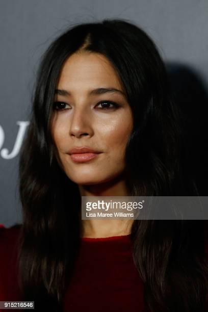 Jessica Gomes arrives ahead of the David Jones Autumn Winter 2018 Collections Launch at Australian Technology Park on February 7 2018 in Sydney...