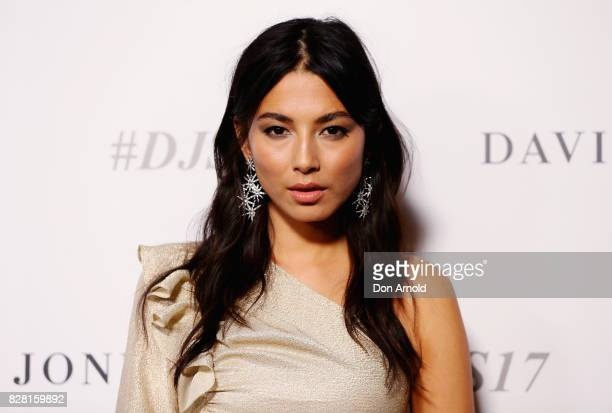 Jessica Gomes arrives ahead of the David Jones Spring Summer 2017 Collections Launch at David Jones Elizabeth Street Store on August 9 2017 in Sydney...
