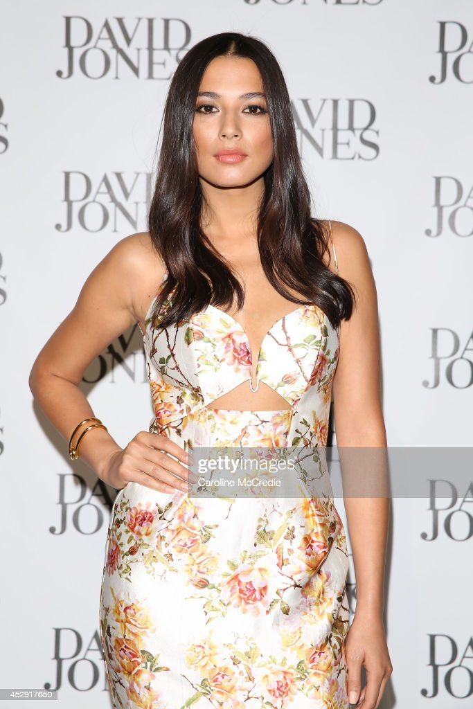Jessica Gomes arrives at the David Jones Spring/Summer 2014 Collection Launch at David Jones Elizabeth Street Store on July 30, 2014 in Sydney, Australia.