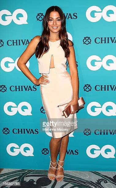 Jessica Gomes arrives at the GQ Men of the Year Awards 2012 on November 13 2012 in Sydney Australia