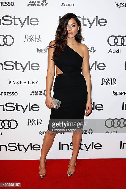 Jessica Gomes arrives at the Instyle and Audi 'Women of Style' Awards on May 21 2014 in Sydney Australia