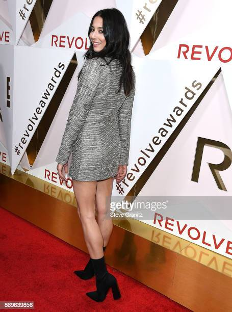 Jessica Gomes arrives at the #REVOLVEawards at DREAM Hollywood on November 2 2017 in Hollywood California