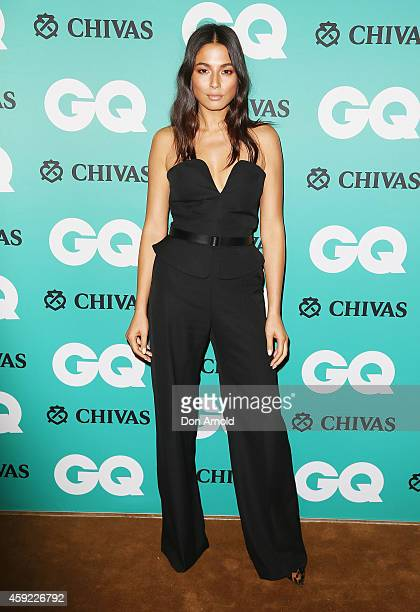 Jessica Gomes arrives for the GQ Men Of The Year Awards 2014 at The Ivy on November 19 2014 in Sydney Australia