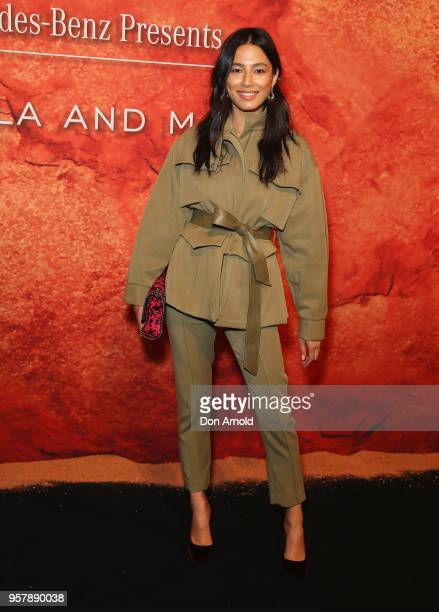 Jessica Gomes arrives for the MercedesBenz Presents Camilla And Marc show at MercedesBenz Fashion Week Resort 19 Collections at the Royal Hall of...