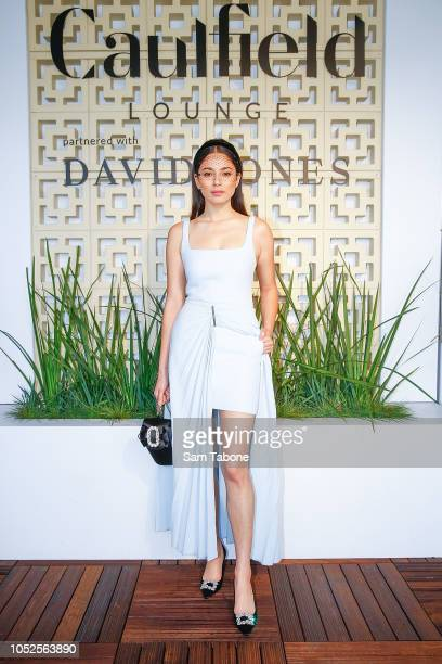 Jessica Gomes attends 2018 Caulfield Cup Day at Caulfield Racecourse on October 20 2018 in Melbourne Australia