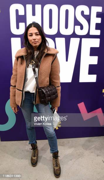 Jessica Gomes attends Choose Love Launches In Los Angeles On Giving Tuesday on December 3 2019 in Los Angeles California