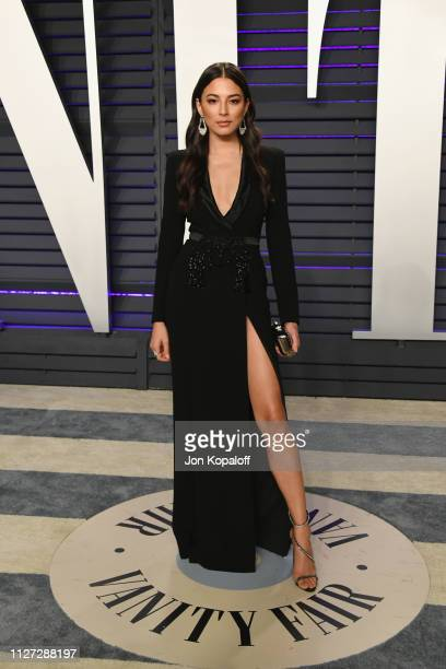 Jessica Gomes attends the 2019 Vanity Fair Oscar Party hosted by Radhika Jones at Wallis Annenberg Center for the Performing Arts on February 24 2019...