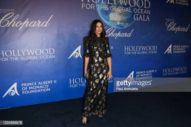 Jessica Gomes attends the 2020 Hollywood For The Global Ocean Gala honoring HSH Prince Albert II Of Monaco at Palazzo di Amore on February 06 2020 in...
