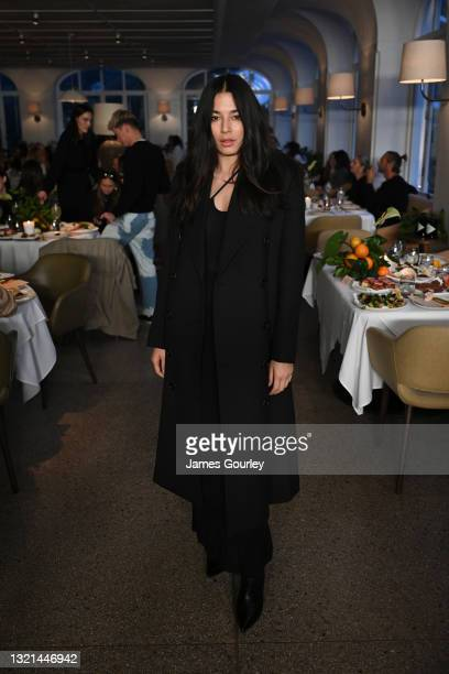 Jessica Gomes attends the Auteur show during Afterpay Australian Fashion Week 2021 Resort '22 Collections on June 03, 2021 in Sydney, Australia.