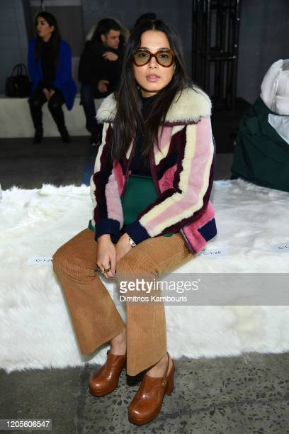 Jessica Gomes attends the Coach 1941 fashion show during February 2020 New York Fashion Week on February 11 2020 in New York City