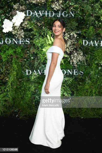 Jessica Gomes attends the David Jones Spring Summer 18 Collections Launch at Fox Studios on August 8 2018 in Sydney Australia