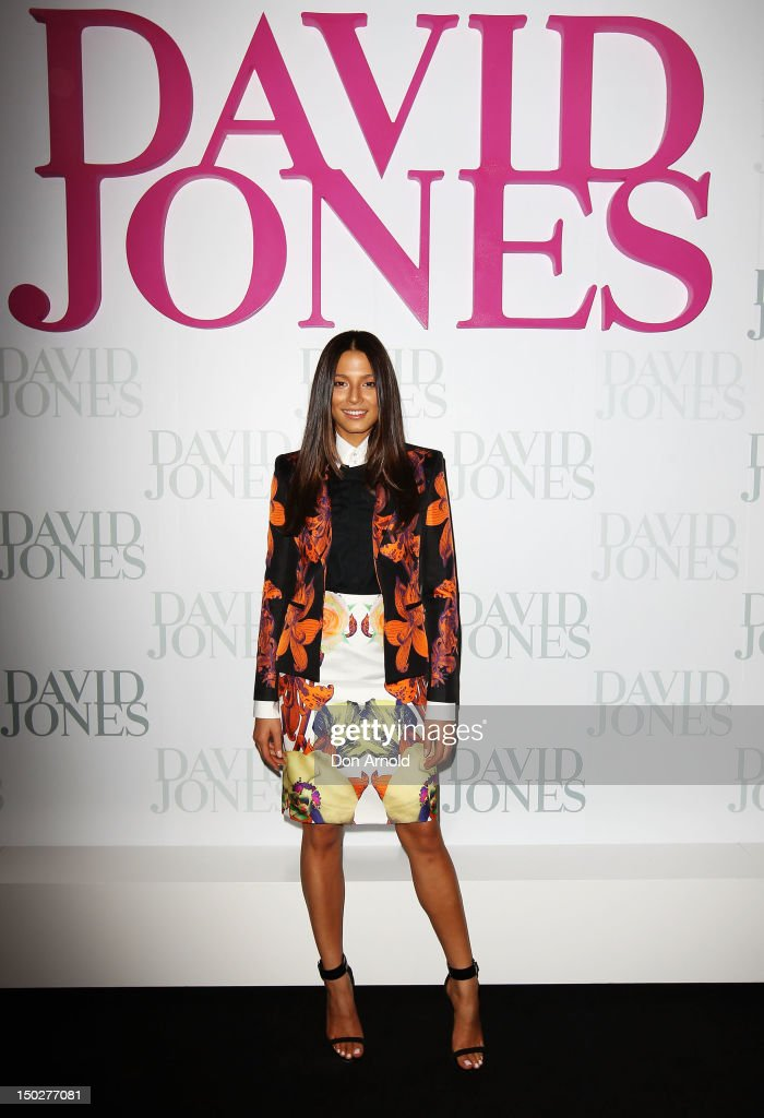 Jessica Gomes attends the David Jones S/S 2012/13 Season Launch at David Jones Castlereagh Street, on August 14, 2012 in Sydney, Australia.