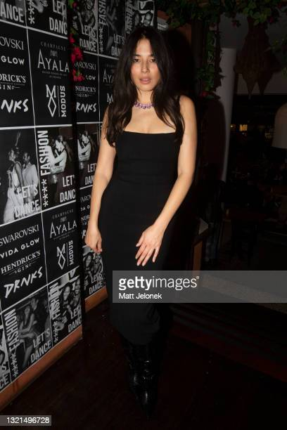 Jessica Gomes attends the Fashion, Let's Dance party during Afterpay Australian Fashion Week 2021 '22 Collections at Meu Jardim Sydney on June 3,...