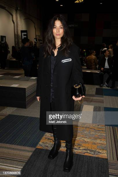 Jessica Gomes attends the Jordan Dalah show during Afterpay Australian Fashion Week 2021 Resort '22 Collections at Carriageworks on May 31, 2021 in...