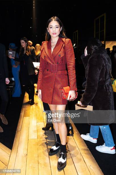 Jessica Gomes attends the MICHAEL KORS COLLECTION Fall 2020 Runway Show Asia Pacific Front Row Faces at American Stock Exchange on February 12 2020...