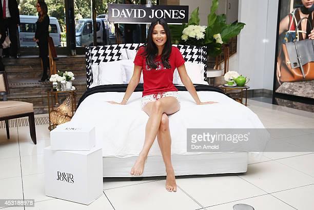 Jessica Gomes poses at David Jones Elizabeth Street Store on August 5, 2014 in Sydney, Australia.