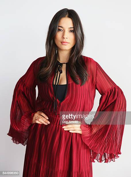 Jessica Gomes poses during model casting for the David Jones Spring Summer 2016 Collections Launch at Museum of Contemporary Art on July 5 2016 in...
