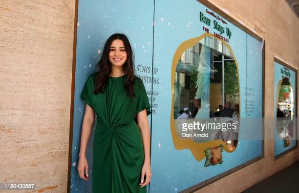 Jessica Gomes poses during the 2019 Christmas Window unveiling at David Jones Market Street on November 09 2019 in Sydney Australia