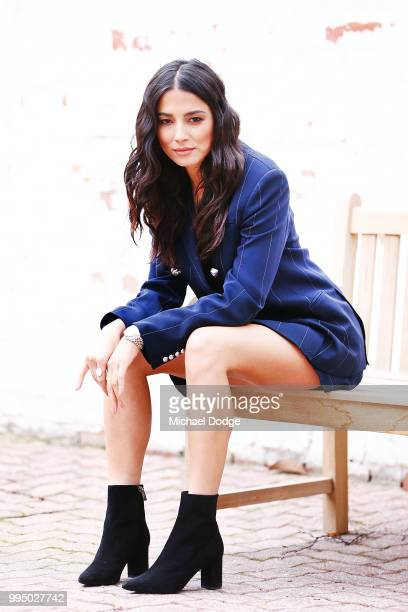 Jessica Gomes poses during the David Jones Spring Summer 18 Collections Launch Model Castings on July 10 2018 in Melbourne Australia