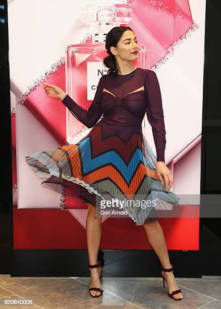 Jessica Gomes poses during the official opening of the new David Jones store at Barangaroo on November 3 2016 in Sydney Australia