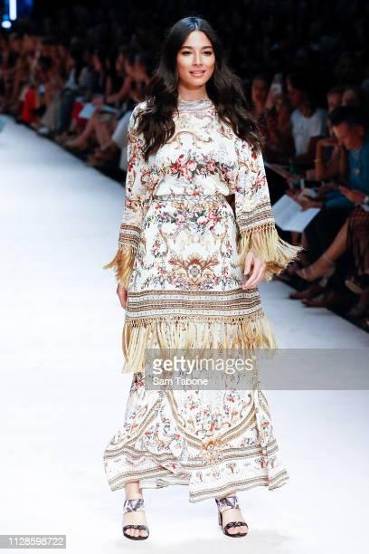 Jessica Gomes showcases designs at Melbourne Fashion Festival on March 4, 2019 in Melbourne, Australia.