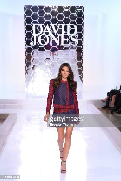 Jessica Gomes showcases designs by Camilla and Marc at the David Jones Spring/Summer 2013 Collection Launch at David Jones Elizabeth Street on July...