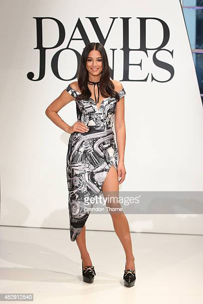 Jessica Gomes showcases designs by Zimmermann during a rehearsal ahead of the David Jones Spring/Summer 2014 Collection Launch at David Jones...