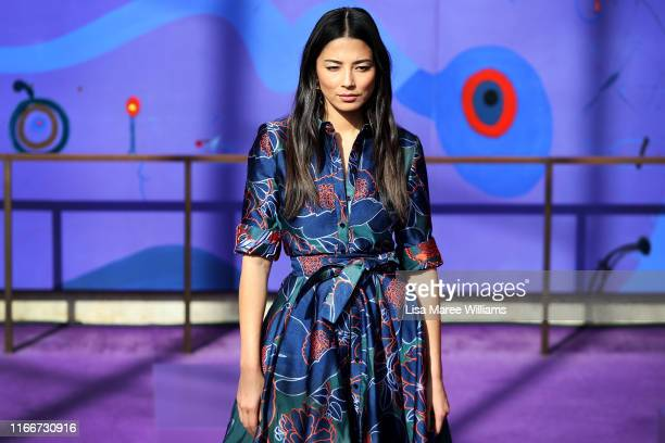 Jessica Gomes showcases designs during the David Jones SS19 Season Preview at the Sydney Opera House on August 08, 2019 in Sydney, Australia.
