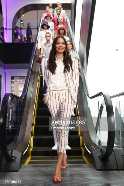 Jessica Gomes walks the runway in designs by Sportscraft and Rejina Pyo during the David Jones SS19 Season Launch at David Jones Elizabeth Street...