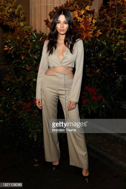 Jessica Gomesattends the Michael Lo Sordo show during Afterpay Australian Fashion Week 2021 Resort '22 Collections at Bambini Trust on June 01, 2021...