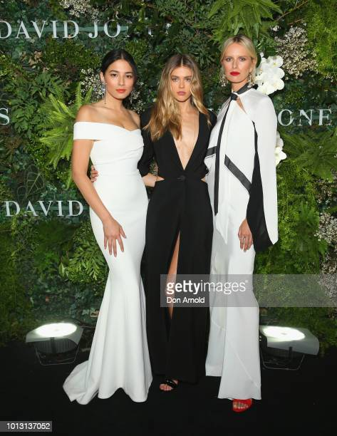 Jessica GomesVictoria Lee and Karol'na Kurkov‡ attends the David Jones Spring Summer 18 Collections Launch at Fox Studios on August 8 2018 in Sydney...