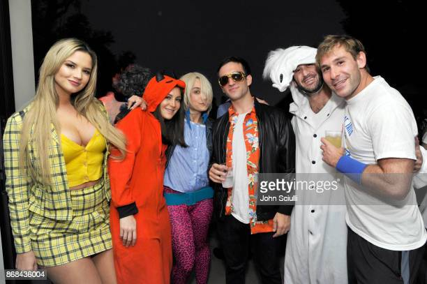 Jessica Graboff and Josh Glick and guests attend Diego Boneta's David Bernon's Halloween at the Hedges by Chivas Regal on October 30 2017 in West...