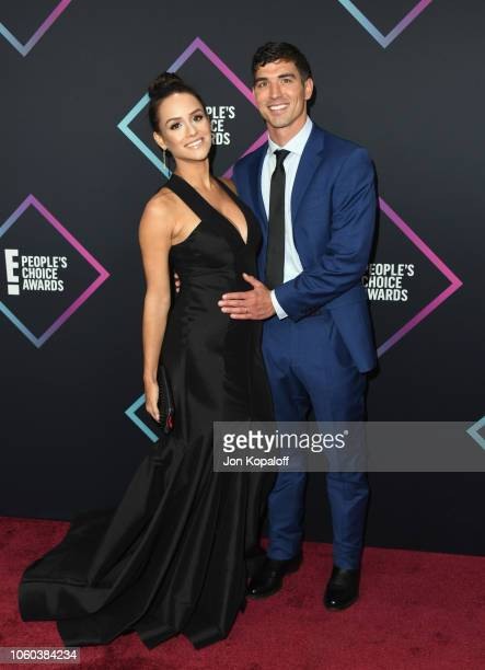 Jessica Graf and Cody Nickson attend the People's Choice Awards 2018 at Barker Hangar on November 11 2018 in Santa Monica California