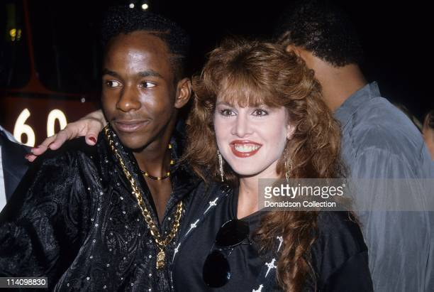 Jessica Hahn and Bobby Brown pose for a portrait in 1989 in Los Angeles California