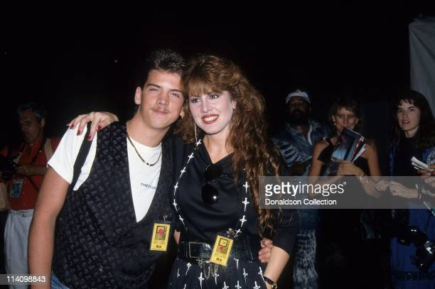 Jessica Hahn and brother pose for a portrait in 1989 in Los Angeles California
