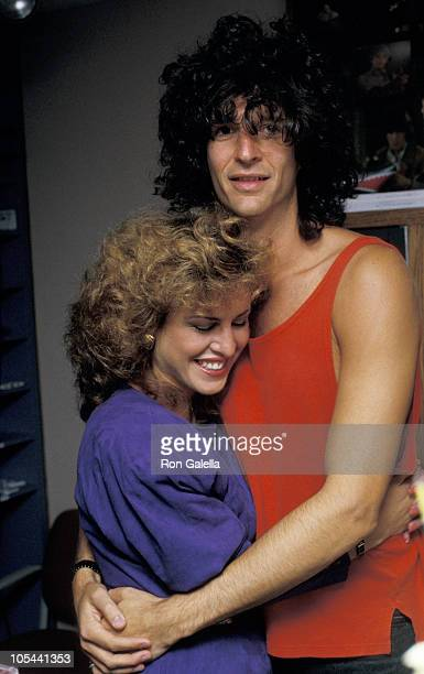 Jessica Hahn and Howard Stern during Jessica Hahn on Howard Stern Show at KRock Studios in New York City New York United States