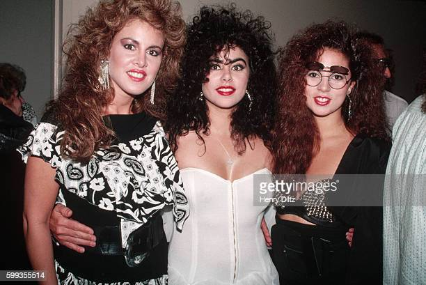 Jessica Hahn and Sam Kinison's girlfriend with a friend backstage at a Sam Kinison show at the Universal Amphitheatre in California
