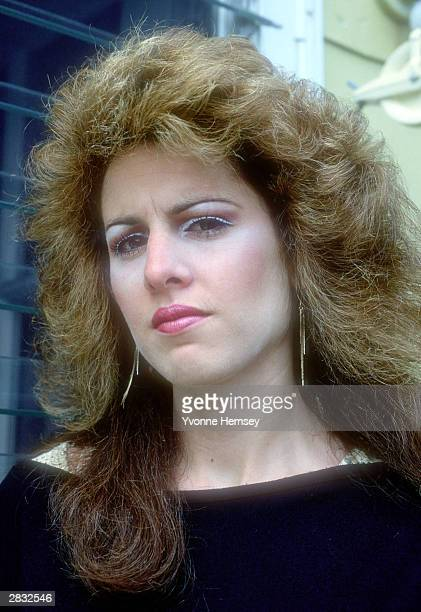 Jessica Hahn is photographed April 15 1987 at her home in Long Island NY during the PTL scandal