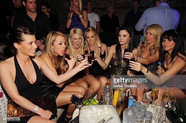 Jessica Hall, Amy Lynn Dover, Jayde Nicole, Kelly Carrington and Setorii Pond celebrates Jayde Nicole's birthday at Eve Nightclub on February 5, 2010...
