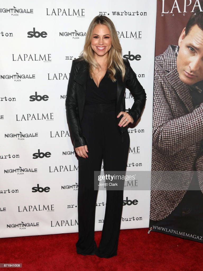 Jessica Hall attends LaPalme Magazine fall cover party at Nightingale Plaza on November 8, 2017 in Los Angeles, California.